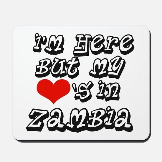 my heart is in Zambia Mousepad