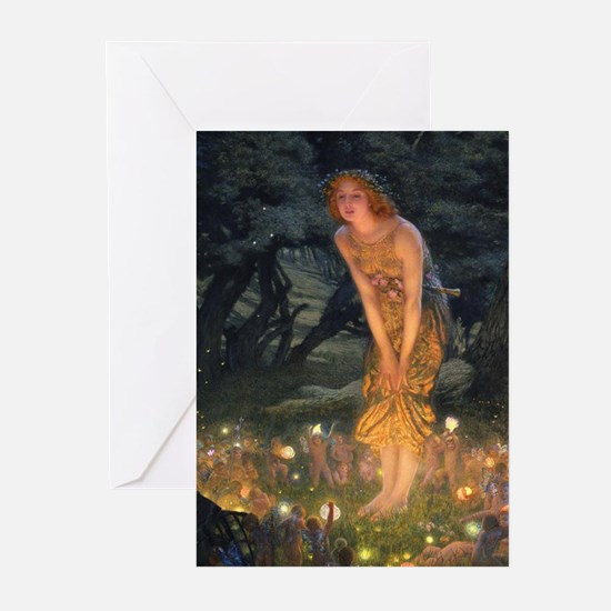 Midsummers Eve Fairy Dance Greeting Cards
