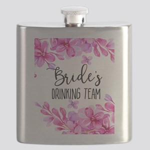 Purple Lilacs Bride's Drinking Team Flask