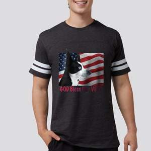 God Bless Our VETS Mens Football Shirt