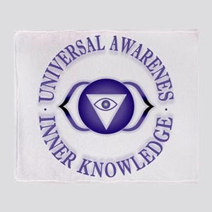 Third Eye chakra Throw Blanket