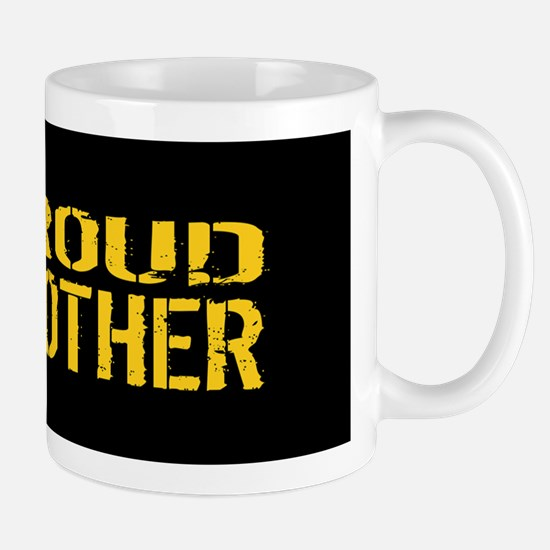 U.S. Army: Proud Brother (Black & Gold) Mug