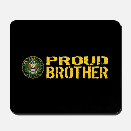 U.S. Army: Proud Brother (Black & Gold) Mousepad