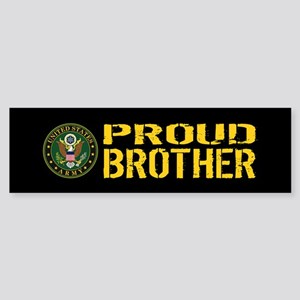 U.S. Army: Proud Brother (Black & Sticker (Bumper)