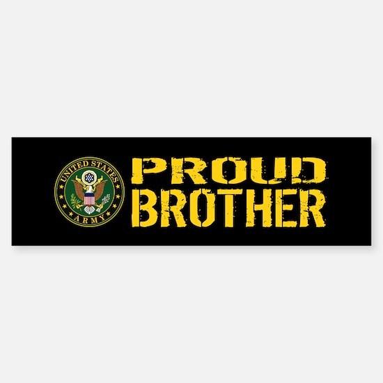 U.S. Army: Proud Brother (Black & Sticker (Bumper)