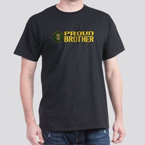 U.S. Army: Proud Brother (Gold) Dark T-Shirt