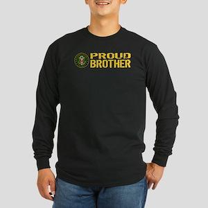 U.S. Army: Proud Brother Long Sleeve Dark T-Shirt