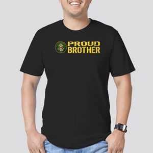 U.S. Army: Proud Broth Men's Fitted T-Shirt (dark)