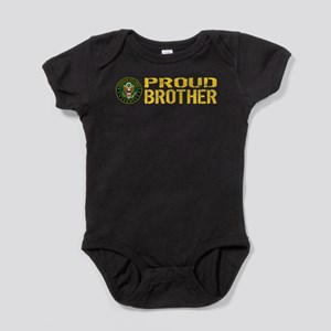 U.S. Army: Proud Brother (Gold) Baby Bodysuit