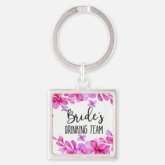 Purple Lilacs Bride's Drinking Team Keychains