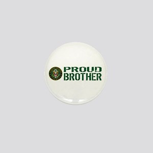 U.S. Army: Proud Brother (Green & Whit Mini Button