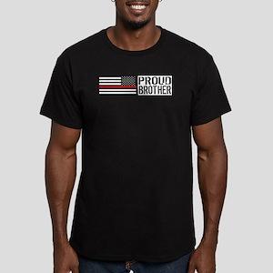 Firefighter: Proud Bro Men's Fitted T-Shirt (dark)