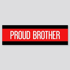 Firefighter: Proud Brother (Red L Sticker (Bumper)