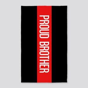 Firefighter: Proud Brother (Black Flag, R Area Rug