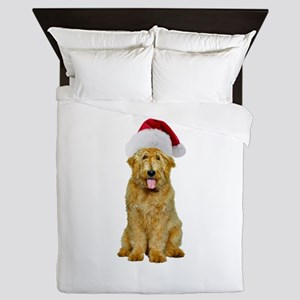 Goldendoodle Christmas Queen Duvet