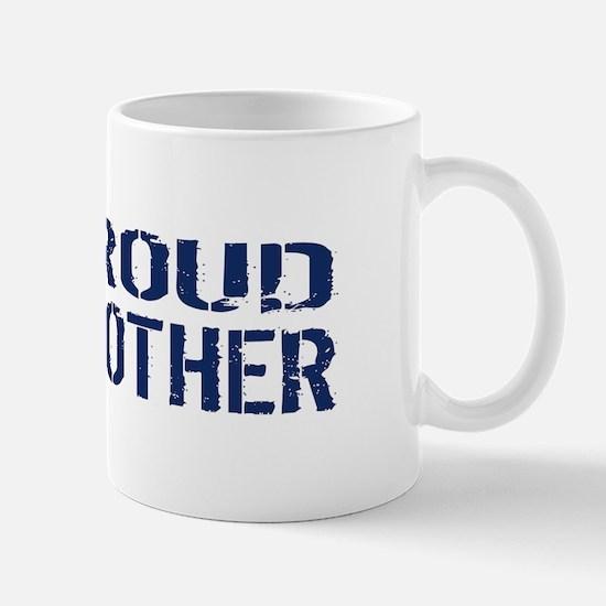 U.S. Navy: Proud Brother (Blue & White) Mug