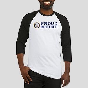 U.S. Navy: Proud Brother (Blue) Baseball Jersey
