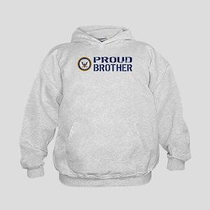 U.S. Navy: Proud Brother (Blue) Kids Hoodie