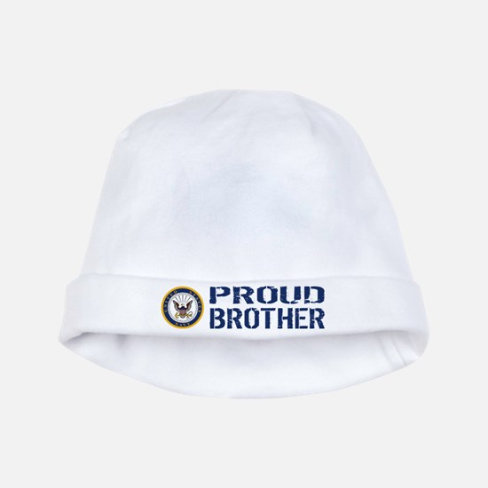 U.S. Navy: Proud Brother (Blue) baby hat