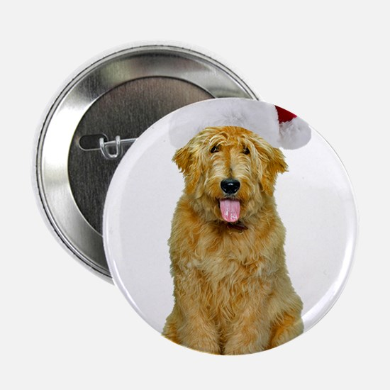 "Goldendoodle Christmas 2.25"" Button"