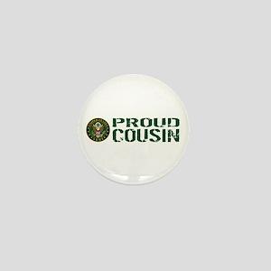 U.S. Army: Proud Cousin (Green & White Mini Button