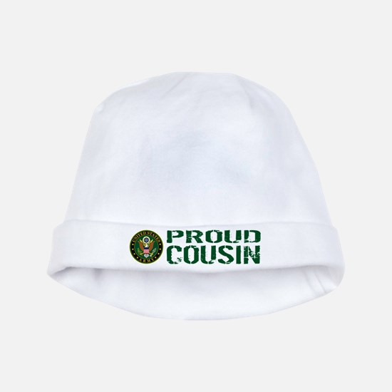 U.S. Army: Proud Cousin (Green) baby hat