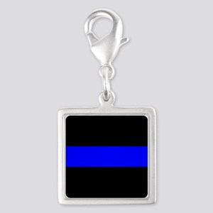 Police: The Thin Blue Line Silver Square Charm