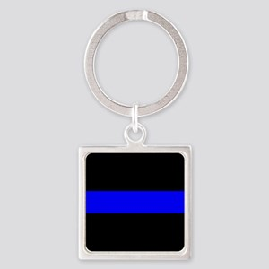 Police: The Thin Blue Line Square Keychain