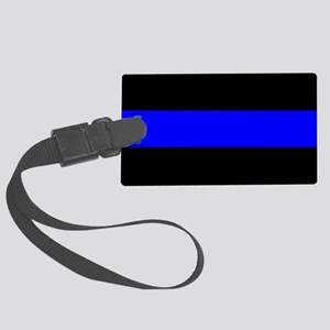 Police: The Thin Blue Line Large Luggage Tag