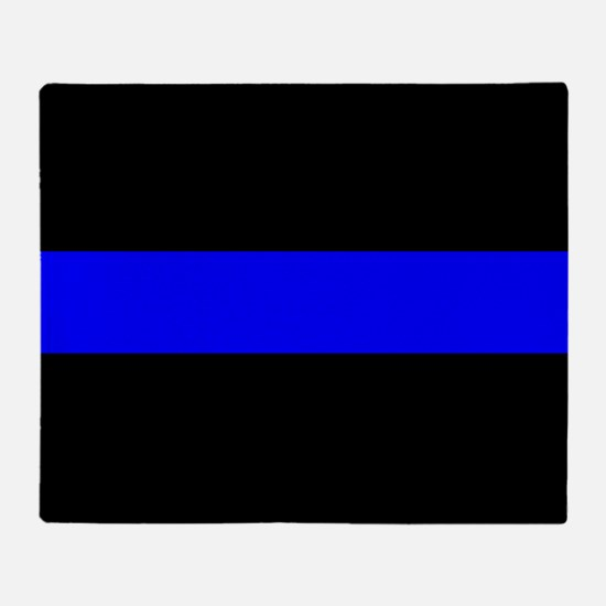 Police: The Thin Blue Line Throw Blanket
