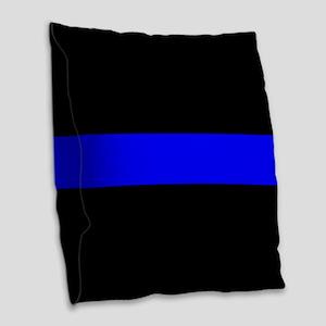 Police: The Thin Blue Line Burlap Throw Pillow