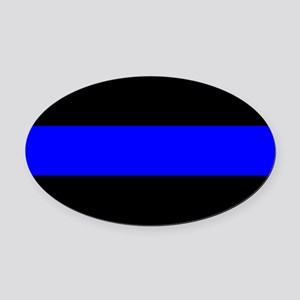 Police: The Thin Blue Line Oval Car Magnet