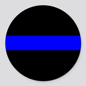 Police: The Thin Blue Line Round Car Magnet