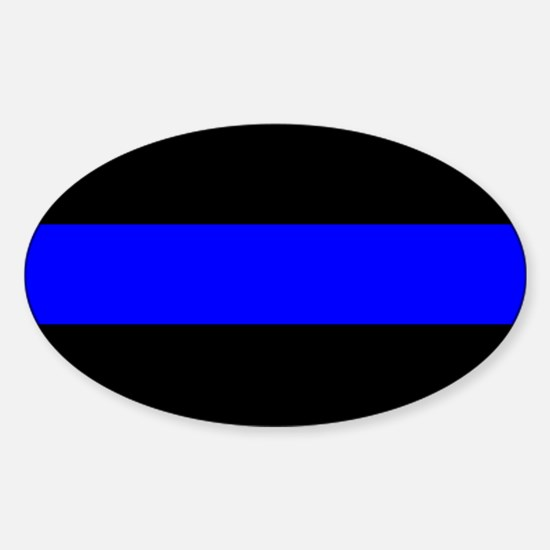Police: The Thin Blue Line Sticker (Oval)