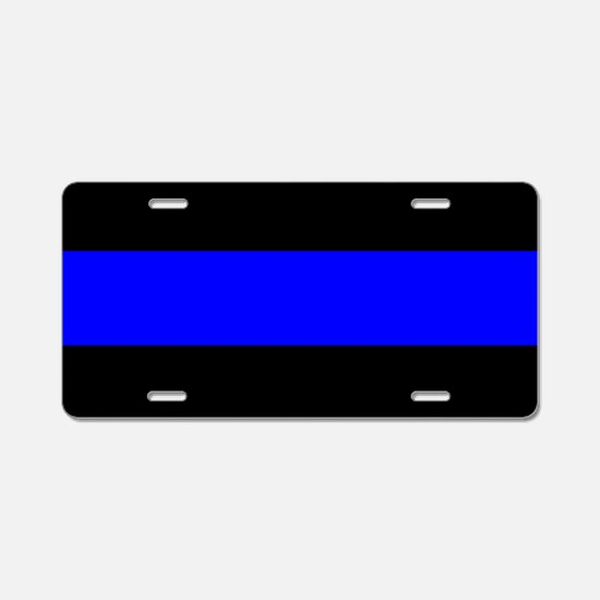 Police: The Thin Blue Line Aluminum License Plate