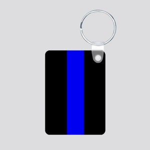 Police: The Thin Blue Line Aluminum Photo Keychain