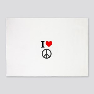 I love peace 5'x7'Area Rug