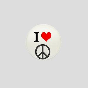 I love peace Mini Button