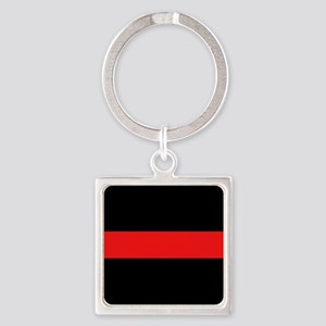 Firefighter: Red Line Square Keychain
