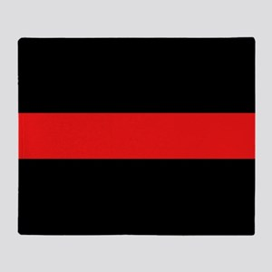 Firefighter: Red Line Throw Blanket