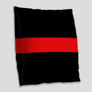 Firefighter: Red Line Burlap Throw Pillow