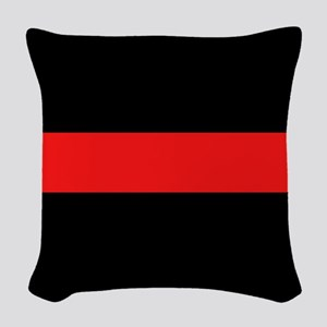 Firefighter: Red Line Woven Throw Pillow