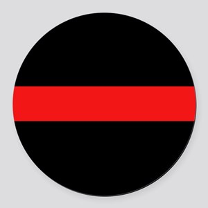 Firefighter: Red Line Round Car Magnet