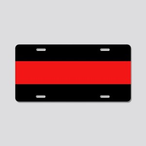 Firefighter: Red Line Aluminum License Plate