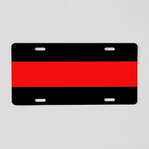 Firefighter: Red Line Aluminum License Plate
