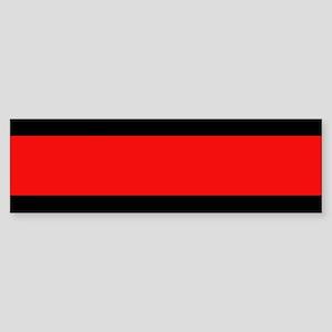 Firefighter: Red Line Sticker (Bumper)