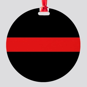 Firefighter: Red Line Round Ornament