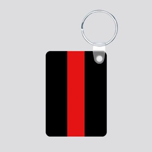 Firefighter: Red Line Aluminum Photo Keychain