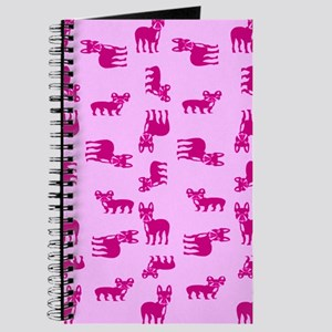 Pink French Bulldogs Journal