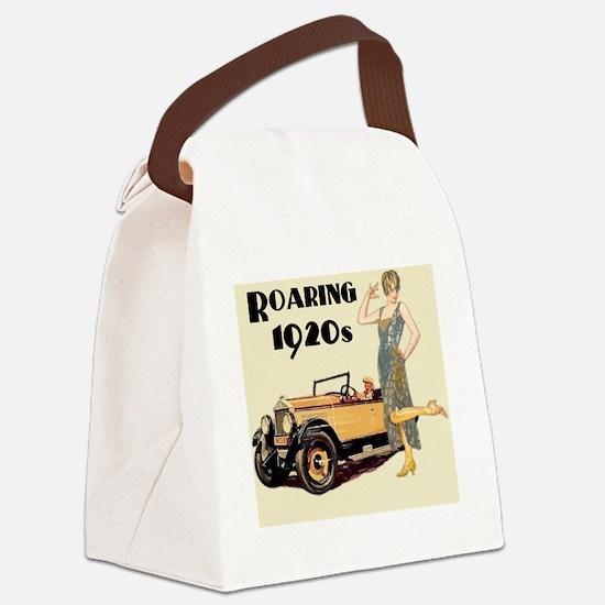 Cute 1920s Canvas Lunch Bag